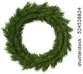 christmas wreath  3d... | Shutterstock . vector #524528824
