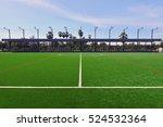 artificial turf football field... | Shutterstock . vector #524532364