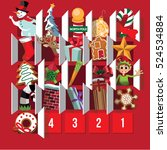 countdown to christmas advent... | Shutterstock .eps vector #524534884