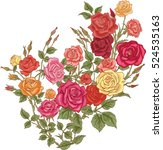 colorful flowers.vector roses | Shutterstock .eps vector #524535163