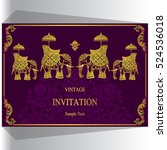 indian wedding invitation ... | Shutterstock .eps vector #524536018