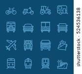 transportation blue line icon | Shutterstock .eps vector #524536138