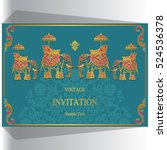 indian wedding invitation ... | Shutterstock .eps vector #524536378