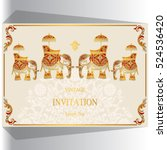indian wedding invitation ... | Shutterstock .eps vector #524536420