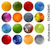 multicolored polygonal bright... | Shutterstock . vector #524536840