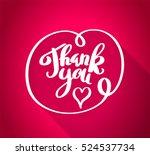 thank you handwritten  white... | Shutterstock .eps vector #524537734