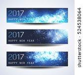 set of horizontal christmas ... | Shutterstock .eps vector #524538064
