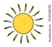 Doodle Sun Drawing Icon...