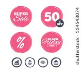 super sale and black friday... | Shutterstock .eps vector #524543074