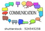 concept of communication on... | Shutterstock . vector #524545258