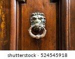 a door knocker in aix en... | Shutterstock . vector #524545918
