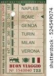 train ticket vintage vector... | Shutterstock .eps vector #524549074
