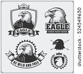 eagle heraldry coat of arms.... | Shutterstock .eps vector #524549650
