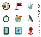 navigation icons set. flat... | Shutterstock . vector #524551903