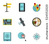 location icons set. flat... | Shutterstock . vector #524552020
