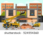 construction site. staff... | Shutterstock .eps vector #524554360