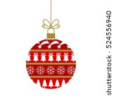 red christmas bauble with...   Shutterstock .eps vector #524556940