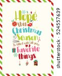 christmas quote. hope this... | Shutterstock .eps vector #524557639