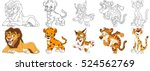 cartoon animal set. collection...   Shutterstock .eps vector #524562769
