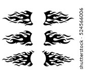 black vector flame design... | Shutterstock .eps vector #524566006