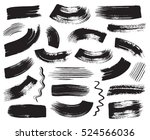 black grunge vector art brush... | Shutterstock .eps vector #524566036