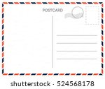 vector postcard with white... | Shutterstock .eps vector #524568178