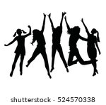 people silhouette jumping....   Shutterstock .eps vector #524570338