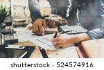 business plan brainstorming... | Shutterstock . vector #524574916