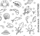 sea life seamless pattern.... | Shutterstock .eps vector #524579080