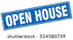 Open House. Stamp. Square...