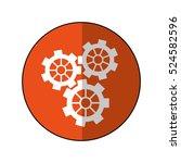 gear wheel engine cog icon...