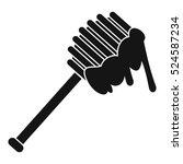 honey spoon icon. simple... | Shutterstock . vector #524587234