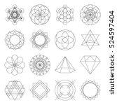 geometric outline vector shapes | Shutterstock .eps vector #524597404