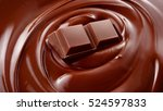 melted chocolate background  ... | Shutterstock . vector #524597833