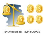 libra. currency rate. dollar ... | Shutterstock .eps vector #524600938