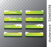 christmas vector green glossy... | Shutterstock .eps vector #524601058