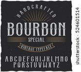 bourbon label font and sample... | Shutterstock .eps vector #524601514