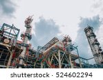 industrial zone the equipment... | Shutterstock . vector #524602294