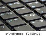 a macro shot of a notebook... | Shutterstock . vector #52460479