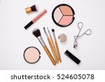 professional makeup tools ... | Shutterstock . vector #524605078