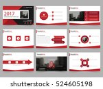 red abstract presentation... | Shutterstock .eps vector #524605198