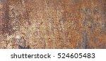 old rust eroded metal iron...   Shutterstock . vector #524605483