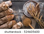 Bread Background. Brown And...
