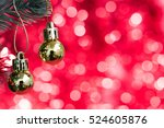 christmas balls ornament...   Shutterstock . vector #524605876