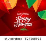 vector happy new year design  ... | Shutterstock .eps vector #524605918