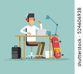 creative work concept vector... | Shutterstock .eps vector #524606938