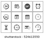 time icons | Shutterstock .eps vector #524613550