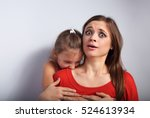 angry emotional kid girl... | Shutterstock . vector #524613934