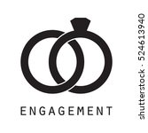 engagement ring | Shutterstock .eps vector #524613940
