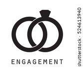 engagement ring | Shutterstock .eps vector #524613940